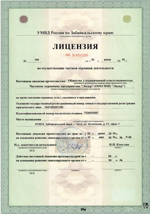 license lider 1